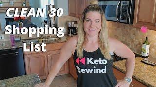 Keto Rewind CLEAN 30 Shopping List │Protein Shake & Unflavored Collagen FAQ