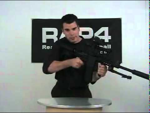 RAP4 T68 Sniper Paintball Gun Demo and Test