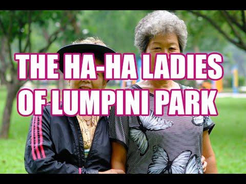 Chinese Ha Ha Ladies in Bangkok's Lumpini Park