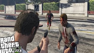 GTA V PC - Zombie Wave Mini Game! (How Long Can You Survive?) GTA 5 Zombie Gameplay