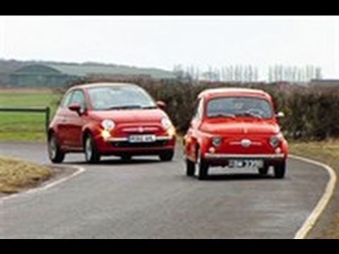 Fiat 500 meets its ancestor video
