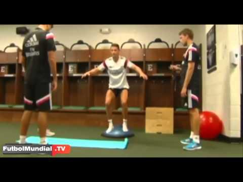 Cristiano Ronaldo y su peculiar entrenamiento Real Madrid 2015