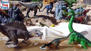 Dinosaurs Toys Park Fun Video for Kids - Learn Dino Names