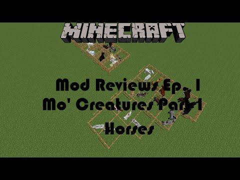 Minecraft Mod Reviews Episode 1: The Mo' Creatures Mod Part 1: Horses