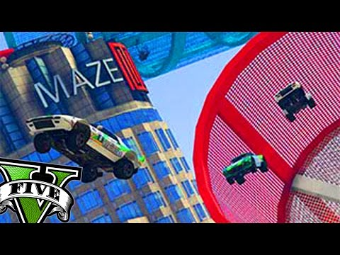 GTA V - CARRERA ACROBÁTICA POR EL MAZE BANK !!!   MrWikky92