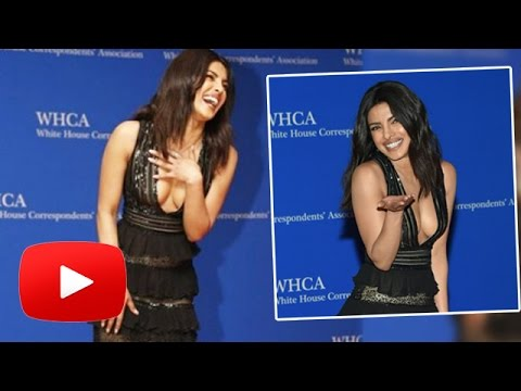 Priyanka Chopra EXPOSES Her CLEAVAGE At White House Dinner