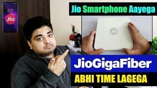 Jio Phone 3 With Android Go | Jio Gigafiber Broadband Launch