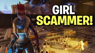 so a GIRL tried to SCAM me! 😂🤣 (Scammer Get Scammed) Fortnite Save The World