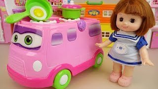 Baby Doll and Kitchen bus car toys baby doli play