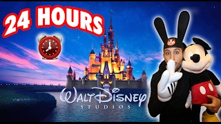 (CASTLE!) 24 HOUR OVERNIGHT in DISNEYLAND FORT | OVERNIGHT CHALLENGE in DISNEYLAND