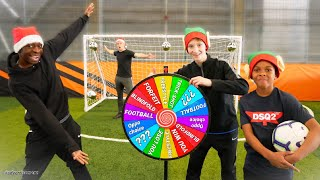 MYSTERY WHEEL FOOTBALL CHALLENGE WITH A TWIST!
