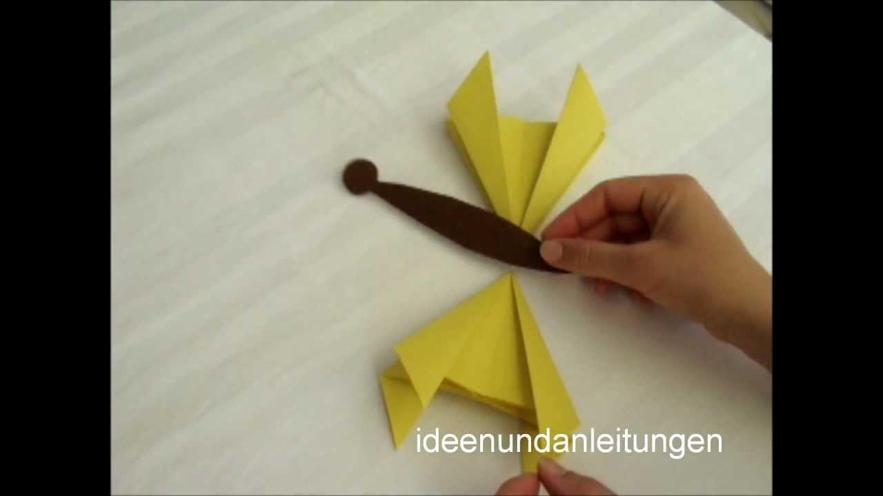 Herbstdeko Zum Selber Basteln Mit Kindern : Schmetterling Basteln ...