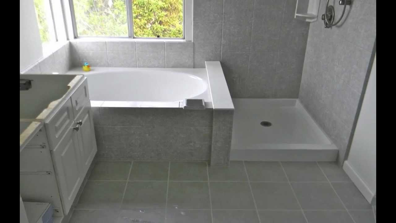 Tub shower combo installation pacific coast rebath youtube for Garden bathtub shower combo