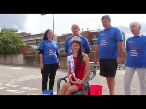 Miss England does the ice bucket challenge for the MND Association
