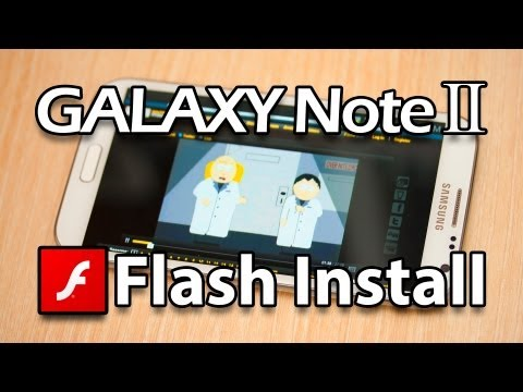 How To Install Flash Player on Samsung Galaxy Note 2