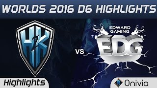 H2K vs EDG Tiebreaker Highlights Worlds 2016 D6 H2K Gaming vs Edward Gaming