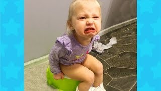 TRY NOT TO LAUGH CHALLENGE 🚽🚽🚽 TODDLERS GETTING STUCK FAILS  Funny Babies Videos Compilation