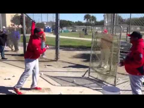 This is Cardinals Spring Training: Yadier Molina hits soft toss