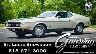 1971 Ford Mustang Mach 1 429 Super Cobra Jet  Gateway Classic Cars St. Louis   #8077