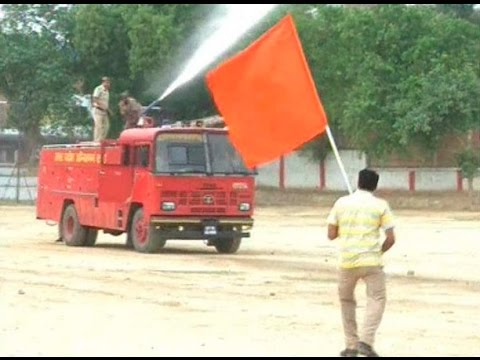 Saffron flag used in UP mock drill fumes BJP leaders