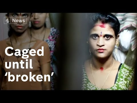 Trafficked girls kept in cages in Mumbai | Channel 4 News