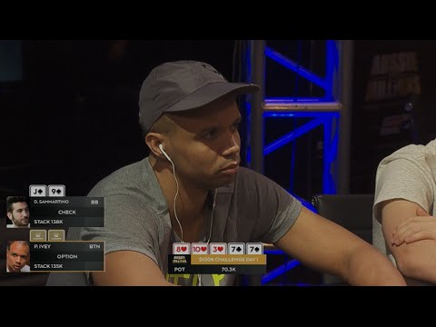 Phil Ivey - Huge River All-In Poker - 2016 Aussie Millions $100k Challenge   PokerStars