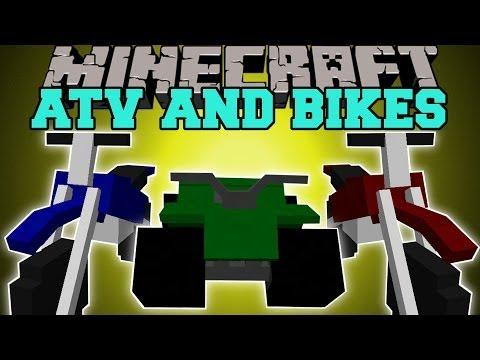 Minecraft: DIRT BIKES ATV EPIC NEW TRAVEL METHODS Mod Showcase