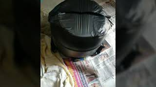 #handmade #pot#DIY#waste towel reuse.. Using cement.. #another sunday #activity....