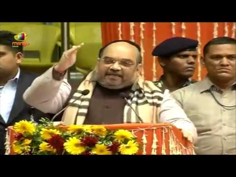 BJP President Amit Shah lures Delhi migrant population - Full Speech at Talkatora Stadium