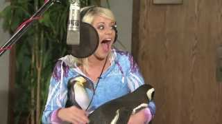 Lauren Alaina recording SeaWorld's Antarctica: Empire of the Penguin theme song