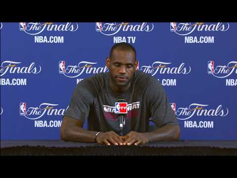 LeBron James NBA Finals Press Conference: Adjustments & guarding Tony Parker