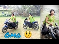 Girl Raiding Bike In India || My First Ride To New Bajaj Pulsar 220