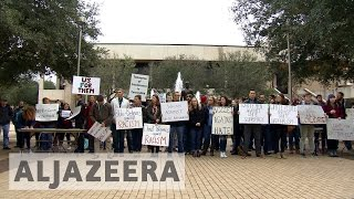 Texas college students protest against hate speech