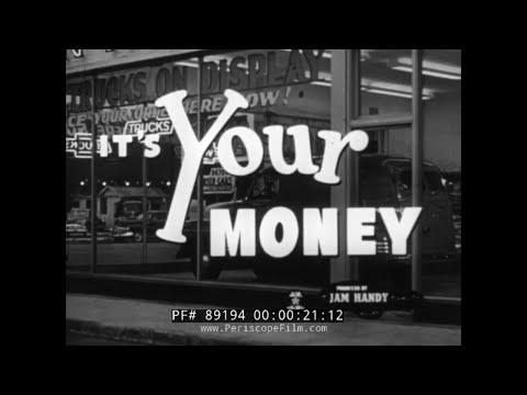 CHEVROLET ADVANCE DESIGN 1950s PANEL TRUCK SALES FILM 89194