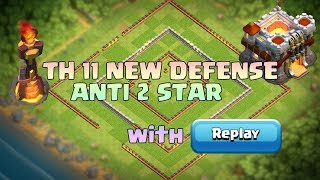 Th11 Defense Base | Anti 2 star base Anti Queen Walk Bowler Witch Anti Queen Walk Miner Anti Dragon