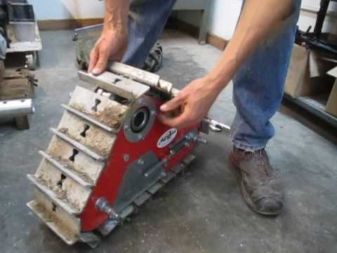 Mounting Tracks to walk-behind tractor