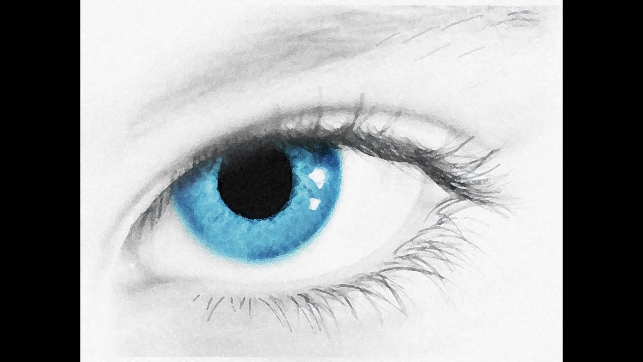 Eyes Blue Drawing Realistic Blue Eye Speed