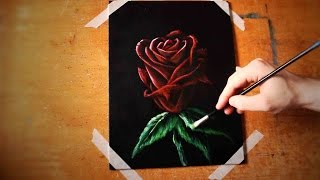 How To Paint A Rose (A Speed Painting Tutorial Of A Flower For Beginners)