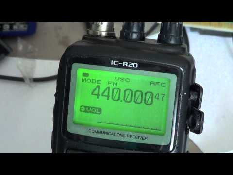 Icom IC R20 Tutorial - Tuning Steps