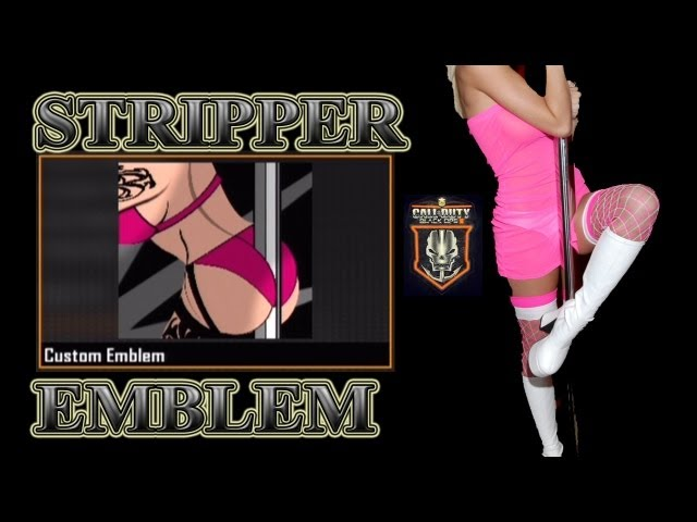 BLACK OPS 2 SEXY STRIPPER GIRL EMBLEM (HOT)