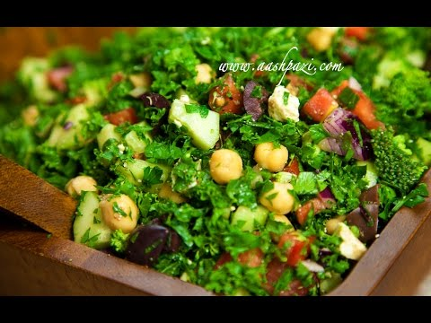 Mediterranean crunch salad Recipe (4K) UltraHD