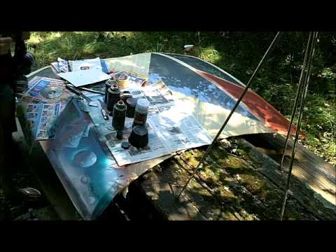 How to spray paint a car part 2, spray paint art tutorial