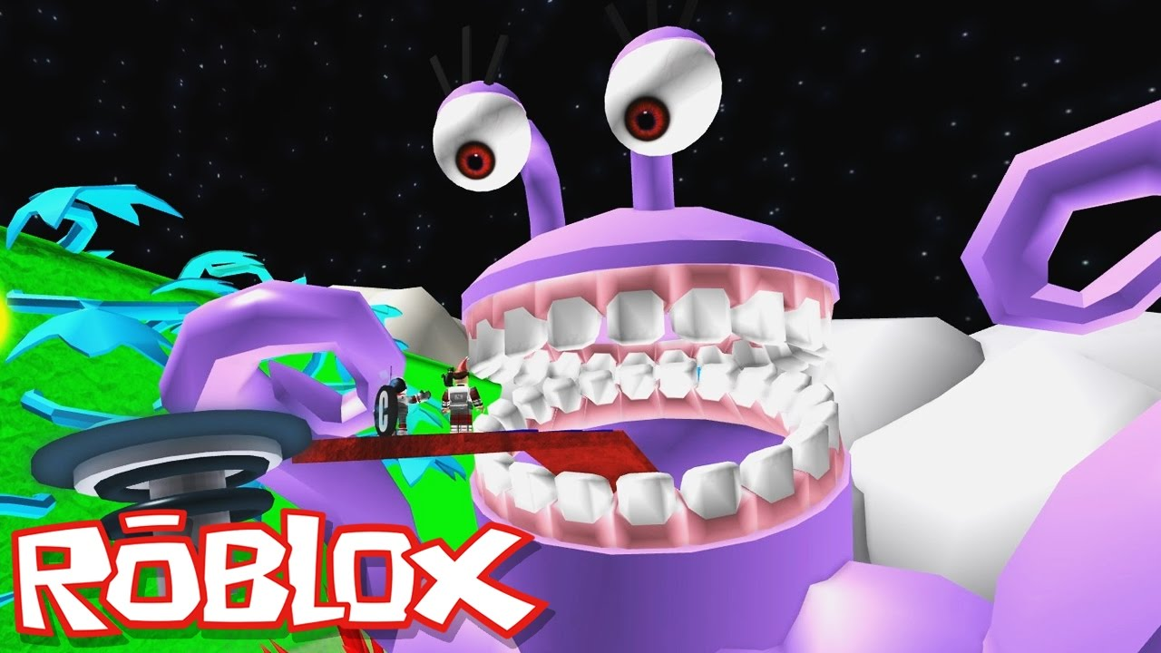 Roblox Adventures / Escape Space Obby / Escaping the Giant Evil Alien!