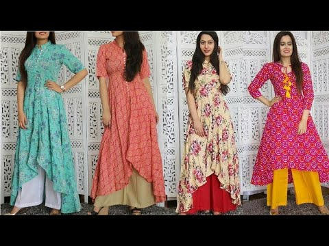 Top Kurti Designs for Women 2018    Designer Long Kurti Style Ideas