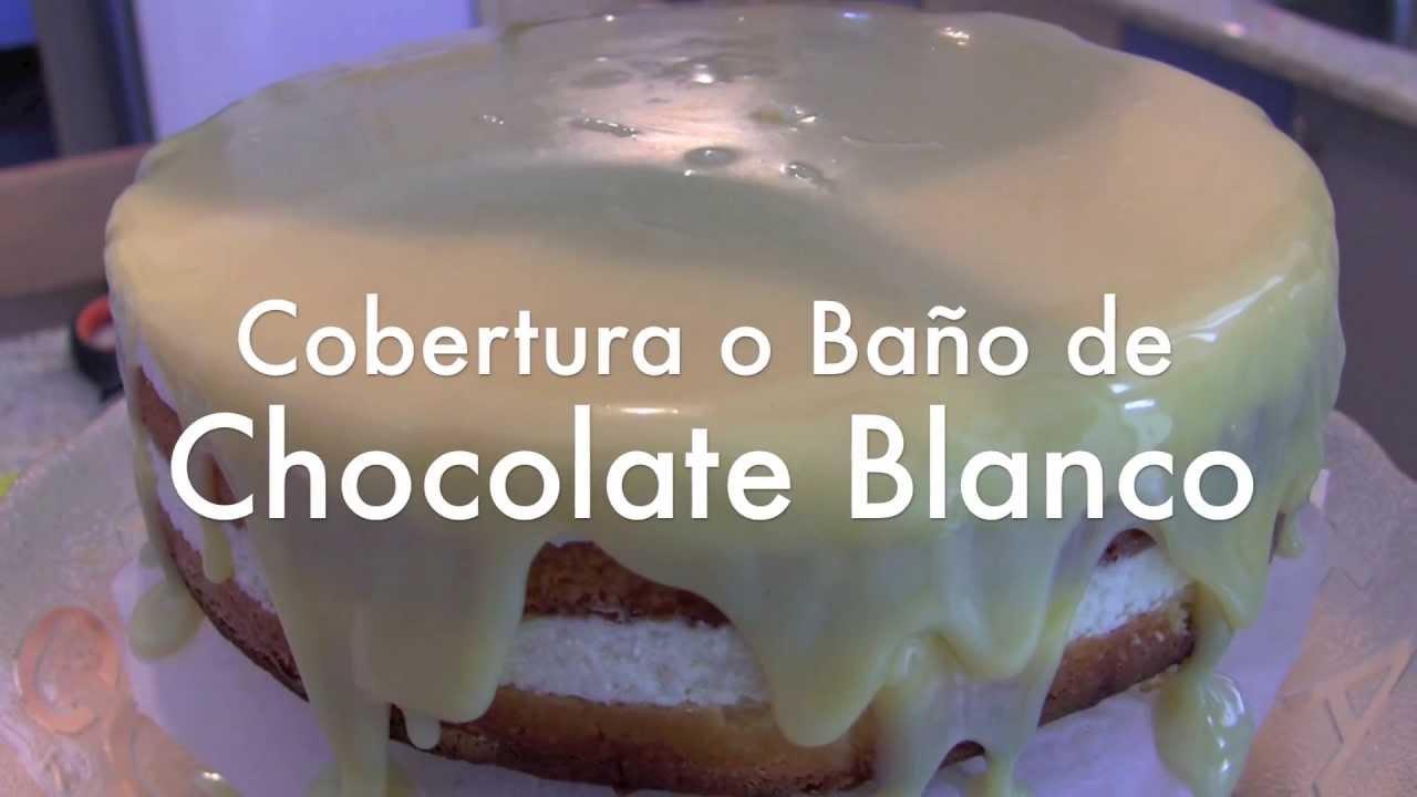 Baño Blanco De Azucar Receta:Bano De Chocolate