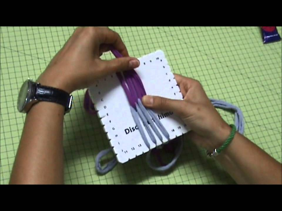 Pulsera de trapillo con disco cuadrado kumihimo youtube - Manualidades hechas con trapillo ...