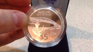 Silver Proof Coin 1996 $5 City of Sails