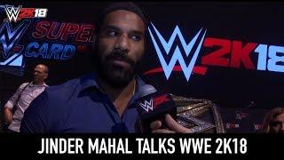 WWE 2K18 at SummerSlam - Jinder Mahal Interview
