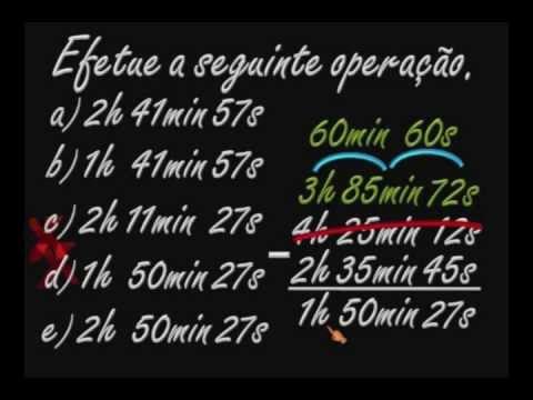 MATEMÁTICA - Unidade de medida de tempo