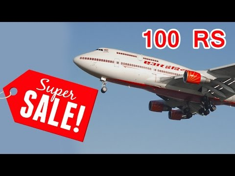 Air India to sell tickets for Rs 100 : Air india ticket Booking Website Special Offer online